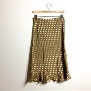 Banana republic polka dot silk skirt size 4